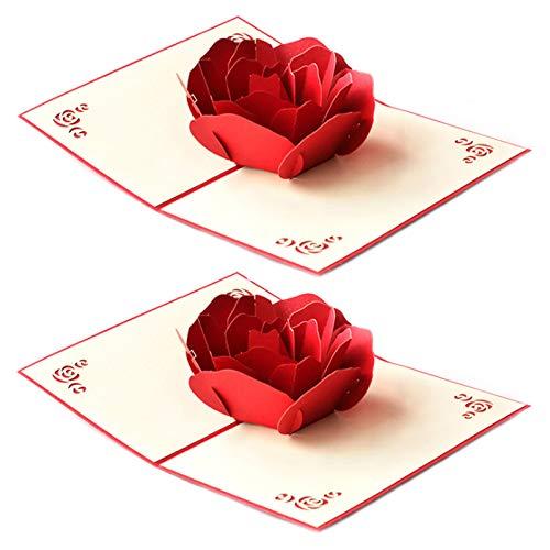 Tarjeta FelicitacióN Emergente Hecha Mano Tarjeta CumpleañOs Tarjeta de FelicitacióN DíA de San ValentíN Regalo para tus Familiares Amigos Amante Utilizado para Tarjetas de Aniversario 2 Piezas