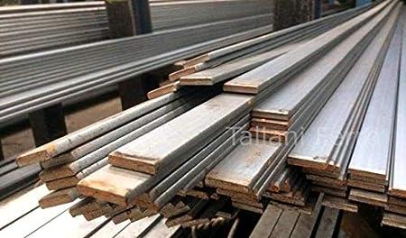 Taliani Ferro Sezione 10x4mm Barra di piatto in ferro grezzo Lunghezza 3 metri circa