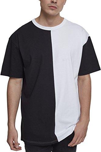 Urban Classics Oversize Harlequin tee Camiseta, Negro y Blanco, M para Hombre