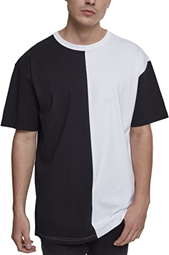 Urban s Herren Oversize Harlequin Regular Fit T-Shirt, blk/wht, L