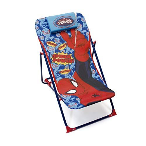 Marvel 709462 Chilienne Spiderman pour Enfants, Métal, Bleu, 61x43x66 cm