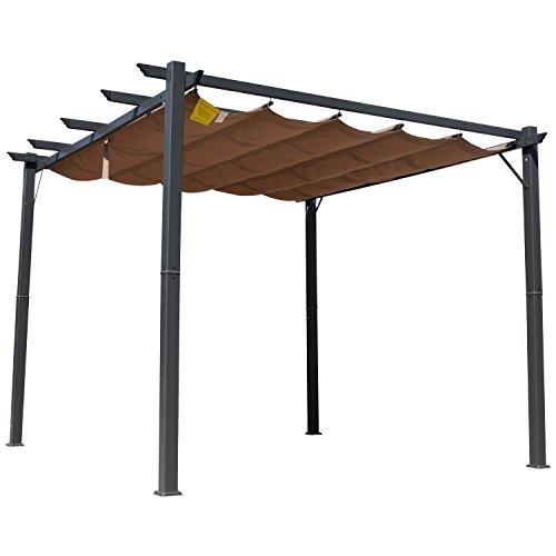 Outsunny 3 X 3 Meter Aluminium Pergola Canopy Gazebo Awning Outdoor Garden Sun Shade Shelter Marquee Party BBQ