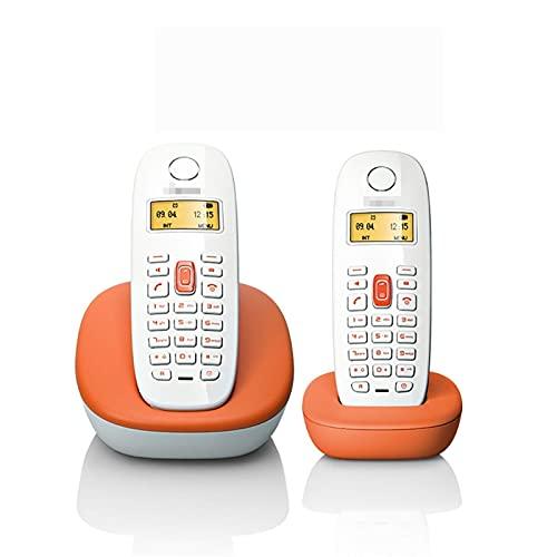 Teléfono residencial inalámbrico, con Bloqueo de Llamadas molestas al 100 por ciento y contestador automático, 8 Teclas de números Familiares, Llamada de Tres vías (Color: A, Tamaño: 2 Piezas)