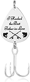 ELOI Father in Law Gift I Hooked the Best Father in-law Fishing Lure Wedding Christmas Fathers Day Fisherman Gift
