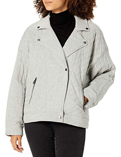 [BLANKNYC] womens Women's Knit Moto Quilted Jacket, Easy Day, X-Small US