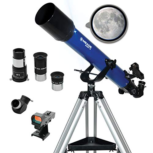 Meade Instruments – Infinity 70mm Aperture Portable Refracting Astronomy Telescope for Kids amp Beginners – Multiple Eyepieces amp Accessories Included  Adjustable Altazimuth AZ Manual Mount