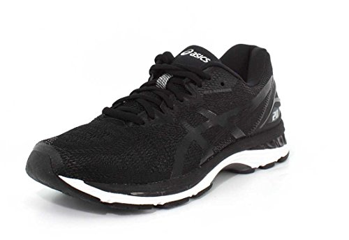 ASICS Men's Gel-Nimbus 20 Running Shoe, black/white/carbon , 9 Medium US
