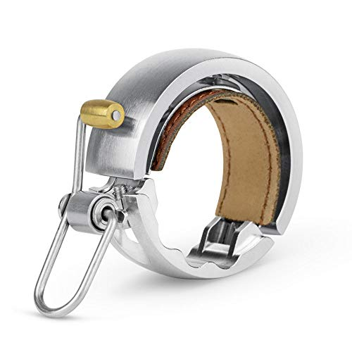 【日本正規品】 KNOG(ノグ)自転車 ベル Oi LUXE リング型(内径:23.8-31.8mm) LARGE シルバー |2年保証|