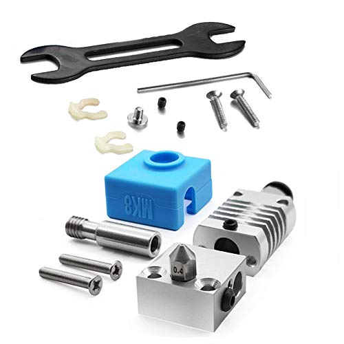 Gesh 3D Printer Accessory Extrusion Head 0.4mm All Metal Hotend Kit for Creality Cr-10 / Ender-3S Cr-10 Pro Printer