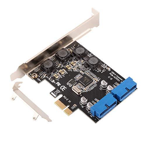 Ziyituod USB3.0 19PINコネクタ 拡張カード 最大5Gbps PCI-Express 1年保証