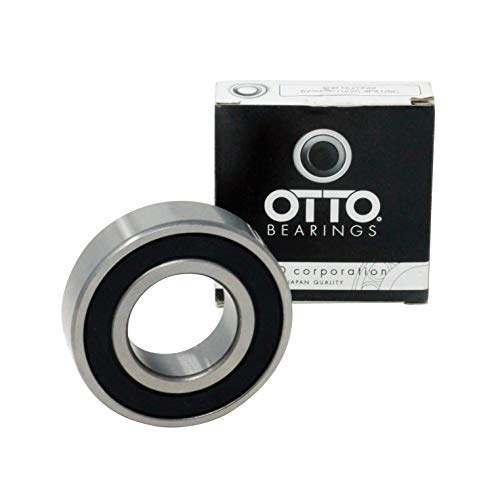 OTTO Premium Quality 6205-2RS Ball Bearing 25x52x15mm, Pre-Lubricated, Rubber Sealed (2 Pack)