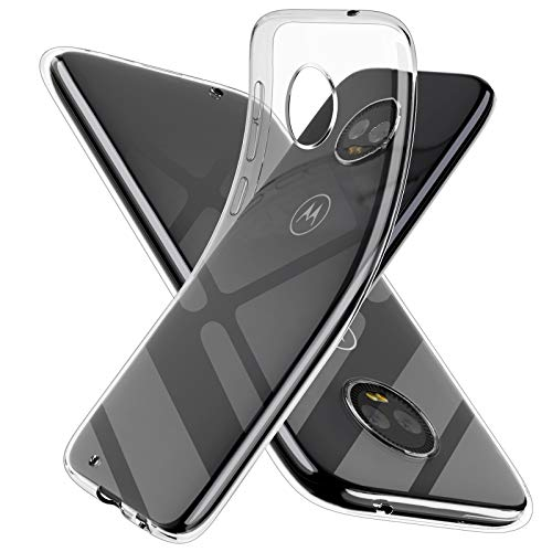 Moto G6 Clear Phone Case,Motorola G6 Case,Slim Thin Silicone Soft Skin Flexible TPU Gel Rubber Bumper Anti-Scratch Shockproof Protective Cases Cover for Moto G6,Crystal Clear