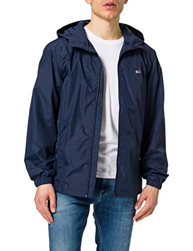 Tommy Jeans TJM Packable Windbreaker Cortavientos, Azul Marino (Twilight Navy), L para Hombre