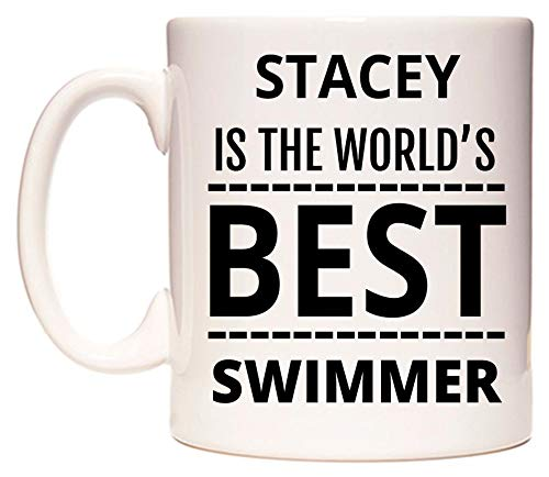 WeDoMugs Stacey is The World's Best Swimmer Becher