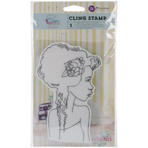Prima Marketing Bloom Cling Rubber Stamps 4'X6', Girl Hope