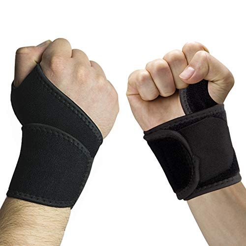 2 Pack Wrist Brace, Adjustable Wrist Support for Men and Women, Thumb Splint Arthritis and Tendinitis Hand Support