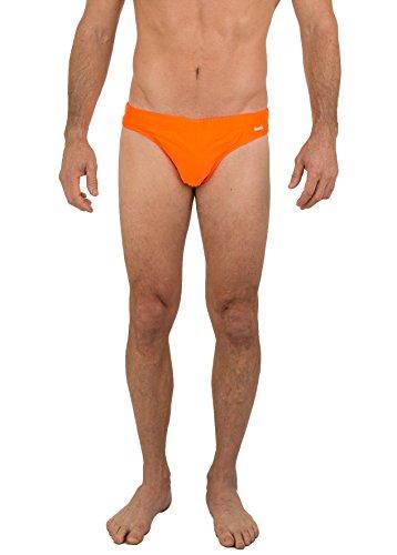 UZZI Men's Basic Swim Shark Bikini Swimwear 4600 Neon Orange XL