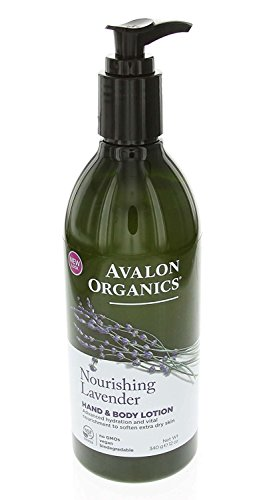 Avalon Organics Lavender Hand and Body Lotion, 12 Ounce (Pack of 4)