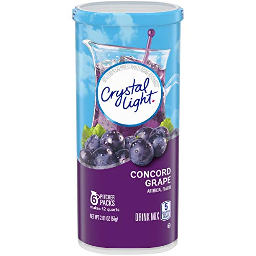 Crystal Light Concord Grape Powdered Drink Mix, Caffeine Free, 2.01 oz Can