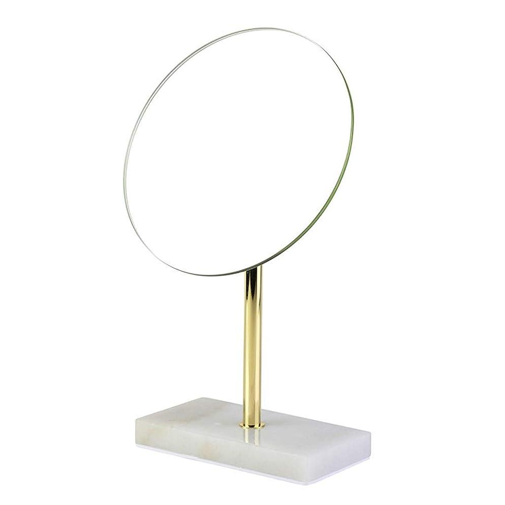 死の顎メタルラインベンチ洗面化粧台ミラー 化粧鏡オーバルライト付き1倍拡大両面ハンドヘルド化粧鏡付きスタンドシェービングミラー 化粧鏡