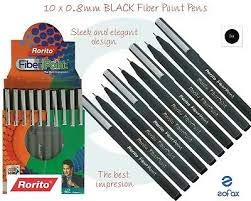 RORITO FIBERPOINT BLACK PEN PACK OF 20 PCS WITH 1 SCENTED PEN