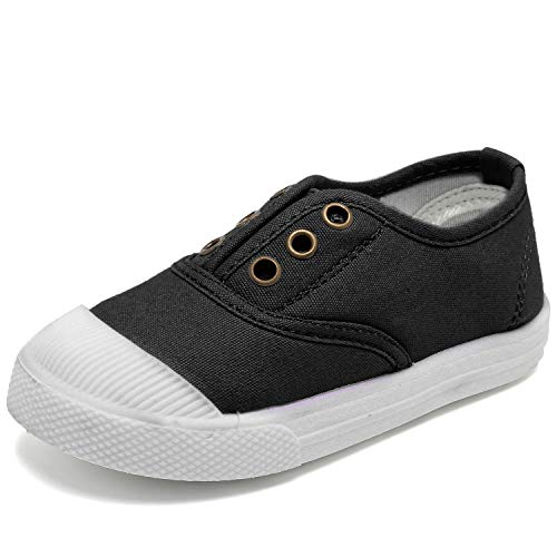 K KomForme Toddler Sneakers Boys & Girls Slip On Canvas Shoes