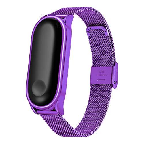 Correa de acero inoxidable para Xiaomi mi Band 5 4 3 correa de reloj pulsera de repuesto para Miband 3 4 5 pulsera de reloj inteligente