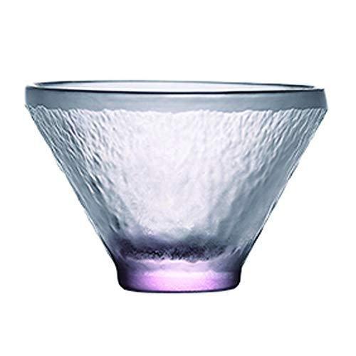 Vasos de Agua Mini Color Cristal Copa, Taza de té, Mate Textura, Vaso de Whisky, Agua/Bebidas Gafas, 1.3 Oz Vasos de Cristal (Color : Pink)