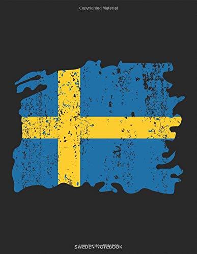 Sweden Flag Grunge - Schweden Flagge: Land Fahne Gelb Blau Flagge Herz Notizbuch Reisetagebuch Urlaubstagebuch Abschiedsgeschenk Reisejournal Urlaub ... Geschenk für DINA4 8,5x11 Zoll 117 Seiten
