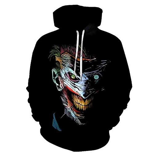 LONGFOFHUI Película De Terror It Chapter Two Sudaderas con Capucha con Estampado 3D Hombres Mujeres Moda Casual Funny Pullover It Clown Print Pattern Hoodies-Yw-1912_XXXL