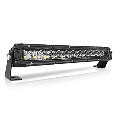 Rigidhorse 12 Inch LED Light Bar Single Row Flood & Spot Beam Combo 10000LM Off Road LED Light Bar Driving Light for Jeep Pickup SUV ATV UTV Truck Roof Bumper