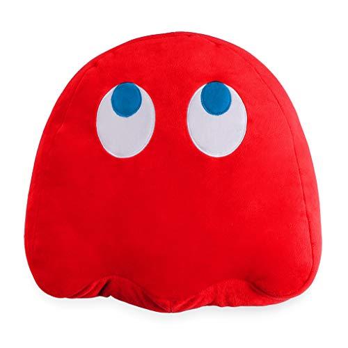 Balvi Cojín Pac-Man Blinky Color Rojo En Forma del icónico Personaje de Videojuego Pac-Man Poliéster 35cm