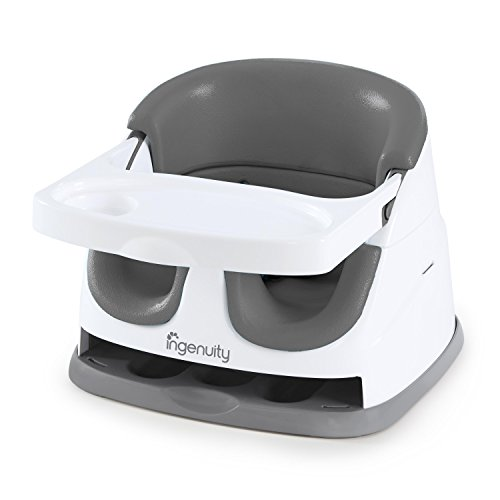 Ingenuity Baby Base 2-in-1 Seat - Slate - Booster Feeding Seat