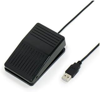 ルートアール USBフットペダルスイッチ マウス操作対応 RI-FP1BK