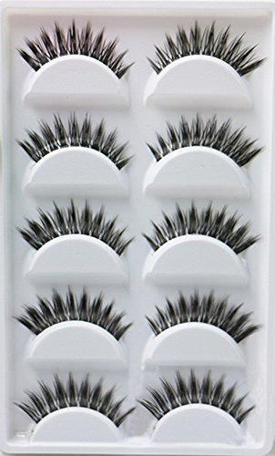 WeiMay 5 Paires Faux Cils Désordre Croix Épais Naturel Faux Cils D'Oeil Set 3D Professionnel Conseils De Maquillage Bigeye Long Faux Cils D'oeil