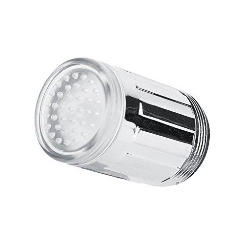 3 colores que cambian el grifo del LED, luz del LED que cambia el sensor de temperatura del resplandor de la ducha grifo del grifo de agua para la cocina