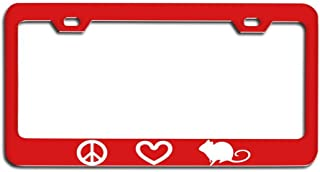 Makoroni - My DAD Surfs Better Than Your DAD Dad Chrome Steel Metal Heavy Duty Decorative License Plate Frame, License Tag Holder