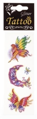 Tatouage brillant motif fée - une bande de 3 motifs assortis