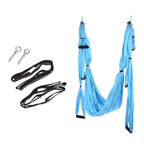 Read About YOcheerful Yoga Swing Set, Yoga Hammock, Extension Straps+Screw Ring Antigravity Ceiling ...