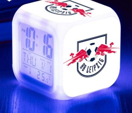 Sport Verein LED Reloj Despertador Digital Fútbol 7 Color Novela