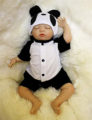 ZIYIUI Realistische Schlafend Reborn Babys Puppen Silikon Junge Lebensechtes Babypuppe Neugeborenes 20 Zoll Handarbeit Dolls Spielzeug