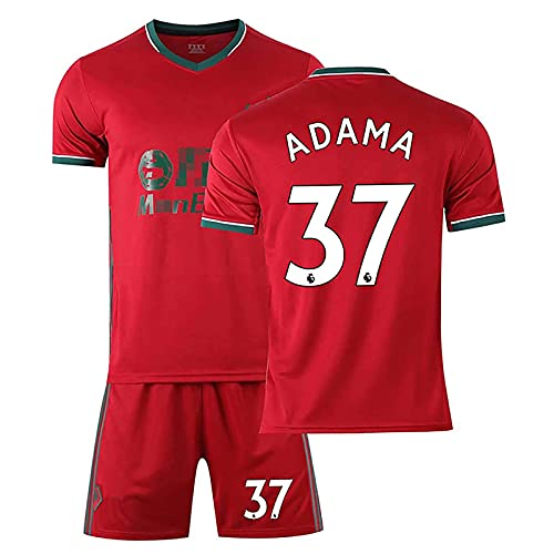 Mijiang Camiseta De Fútbol, Adultos Niños Wolverhampton Kit De Fútbol 37 Adama 8 Neves 7Neto Camiseta De Fútbol, Camiseta con Pantalones Cortos Chándales De Fútbol,C,26