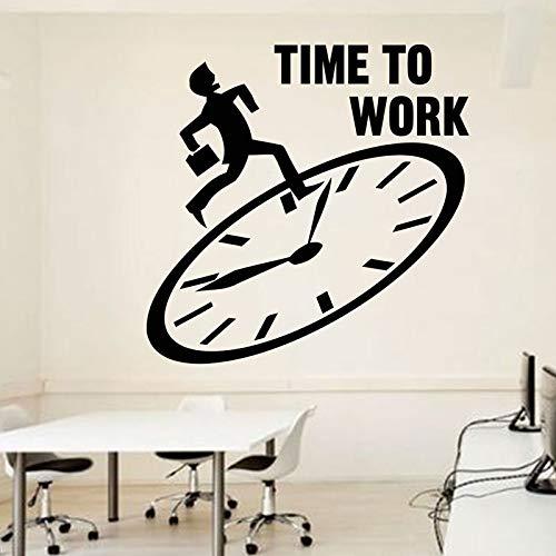 guijiumai Büro Wand Zitat Zeit zum Arbeiten Büro Zitat Motivations Arbeitsbereich Schreibtisch Innenaufkleber Wandbild Vinyl St75X75CM