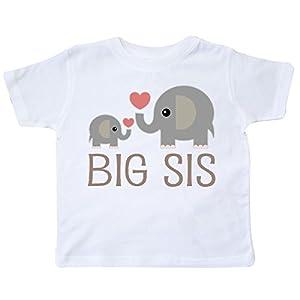 inktastic - Big Sis Elephant Toddler T-Shirt 1a7a5