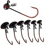 SHADDOCK ジグヘッド 釣り針 ワームキーパー付 スクリュー付 ジグヘッドフック 3.5g 30本セット