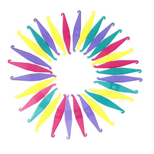 30 Pcs Multicolor Dental Elastic Rubber Bands Placers for Braces Disposable Plastic Orthodontic Elastic Placers Tool