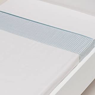 Streep briljant jenny drap housse bébé coton bleu ciel) :  -75 x 100 cm