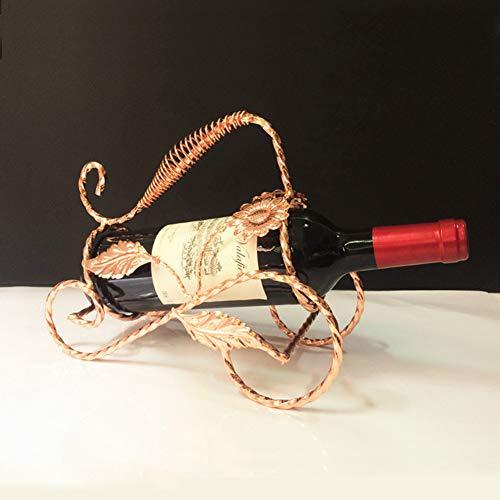 XZYP Metalen Wijnrek, Aanrechtblad Free-Stand Wijnbewaarhouder, Ruimtebesparer Beschermer voor Rode & Witte Wijnen, Tafelblad Wijnrek
