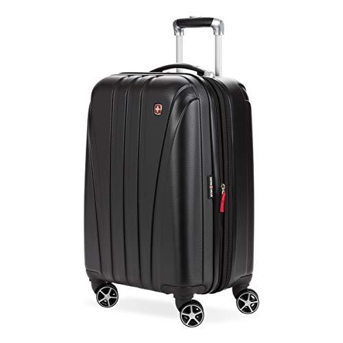 SwissGear 7585 Hardside Spinner Luggage, Black, Carry-On 19-Inch
