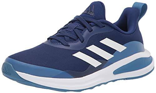 adidas Fortarun Running Shoe, Victory Blue/White/Focus Blue, 4 US Unisex Big Kid